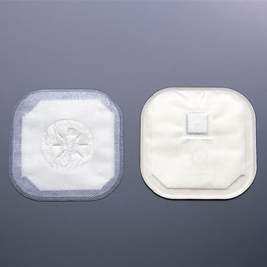 Hollister Ostomy Supplies.  Stoma cap with adhesive tape, pre-sized opening, integrated filter, odor barrier film and without ComfortWear panels.