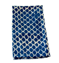Indigo Hamptons Fish Scales Napkins | Peacocks and Paisleys