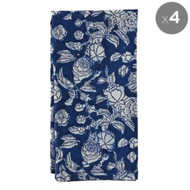 Indigo Hamptons Floral  Napkins - Set of 4 | Peacocks and Paisleys