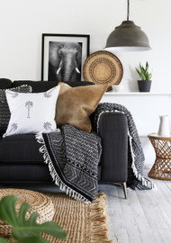 Boho Safari tribal  Tassel Throw- sold out