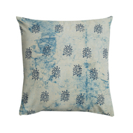 Indigo Dandelion cushion cover