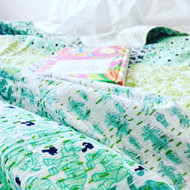 Tropicana Patchwork Kantha Quilt -sold out