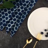 Indigo Dots Napkins -Set Of 4 | Peacocks and Paisleys