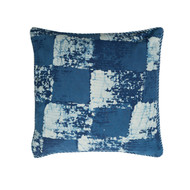 Indigo Gingham Cushion Cover | Peacocks and Paisleys