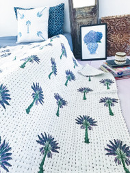 Purple Palms Kantha Quilt -sold out