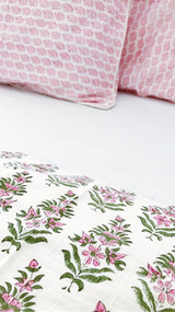 Des Fleurs Kantha Quilt | Peacocks and Paisleys