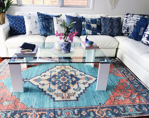 Morocco Upcycled Rug  | Peacocks and Paisleys