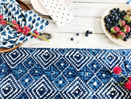 Indigo Aztec Table Runner- Sold out