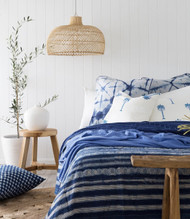Coastal Shibori Euro Cushion Cover