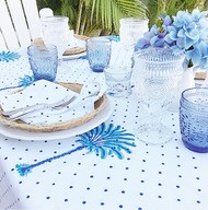 Blue Boho Palm Hamptons Placemats -Set of 4