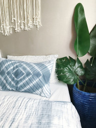 Coastal Grey Shibori Pillowcase