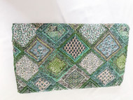 Moss Patchwork print Kantha Quilt -sold out