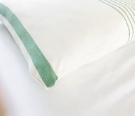 Jade French Stripes Cushion Cover