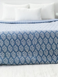 Coastal Grey  Kantha Quilt