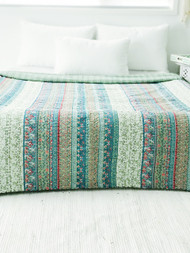 Olive fields  Kantha Quilt -SOLD OUT