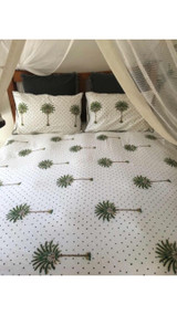 Sample of Polka Dot Palm Tree Quilt Cover - Super King Size