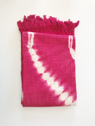 Pink Shibori  Throw- Sold out
