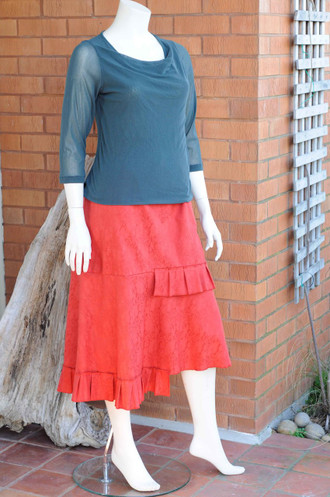 Rust Heather Skirt