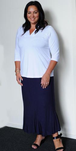 Navy Spot Skirt