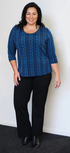 Teal and Dark Navy Top