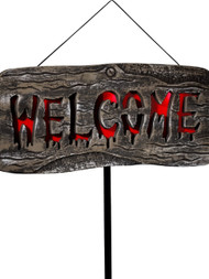 Halloween Large Light Up Welcome Outdoor Sign