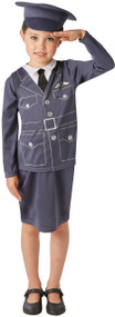 Girls WRAF Air Force Fancy Dress Costume