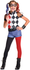 Girls Deluxe Harley Quinn Fancy Dress Costume