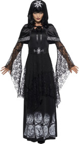 Ladies Deluxe Black Magic Fancy Dress Costume