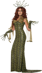 Ladies Deluxe Medusa Fancy Dress Costume