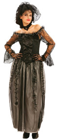 Ladies Widowed Bride Fancy Dress Costume
