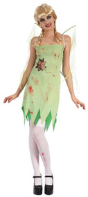 Ladies Zombie Pixie Fancy Dress Costume
