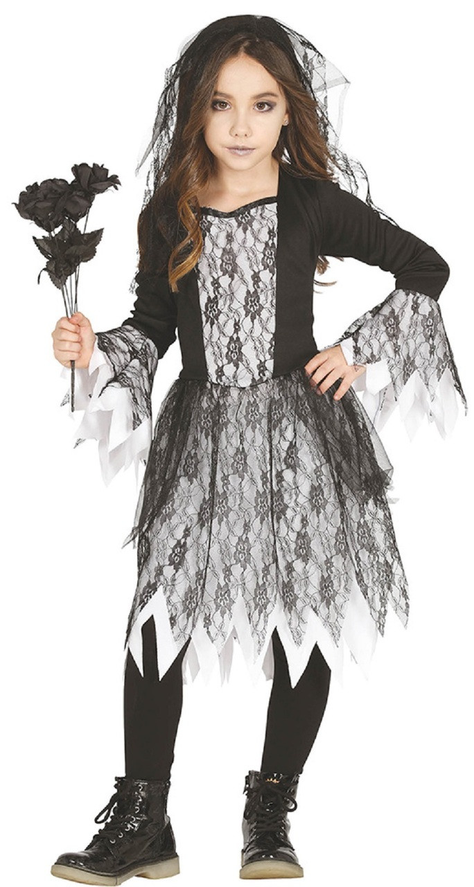 girls corpse bride fancy dress costume image 1