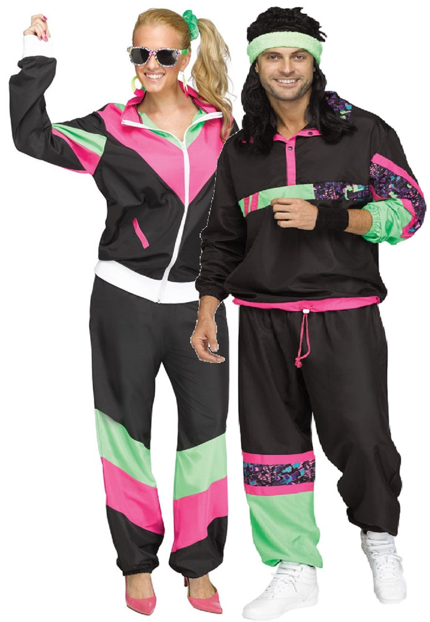 couples 80s shell suit fancy dress costume fancy me limited. Black Bedroom Furniture Sets. Home Design Ideas