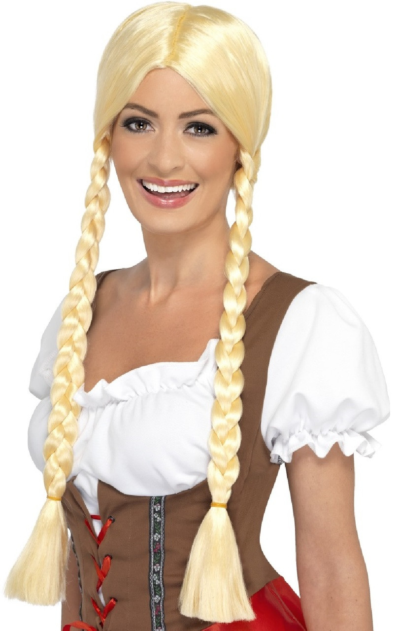 Ladies Bavarian Beauty Fancy Dress Wig. Image 1