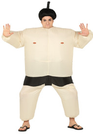 Mens Inflatable Sumo Fancy Dress Costume