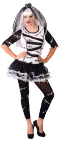 Ladies Monster Bride Fancy Dress Costume