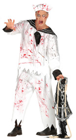 Mens Bloody Zombie Sailor Fancy Dress Costume