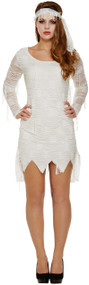 Ladies Egyptian Mummy Fancy Dress Costume