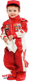 Boys Deluxe Racing Driver Fancy Dress Costume