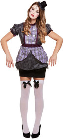 Ladies Broken Doll Fancy Dress Costume 1