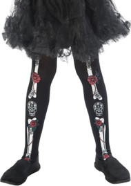 Girls Day Of The Dead Fancy Dress Tights