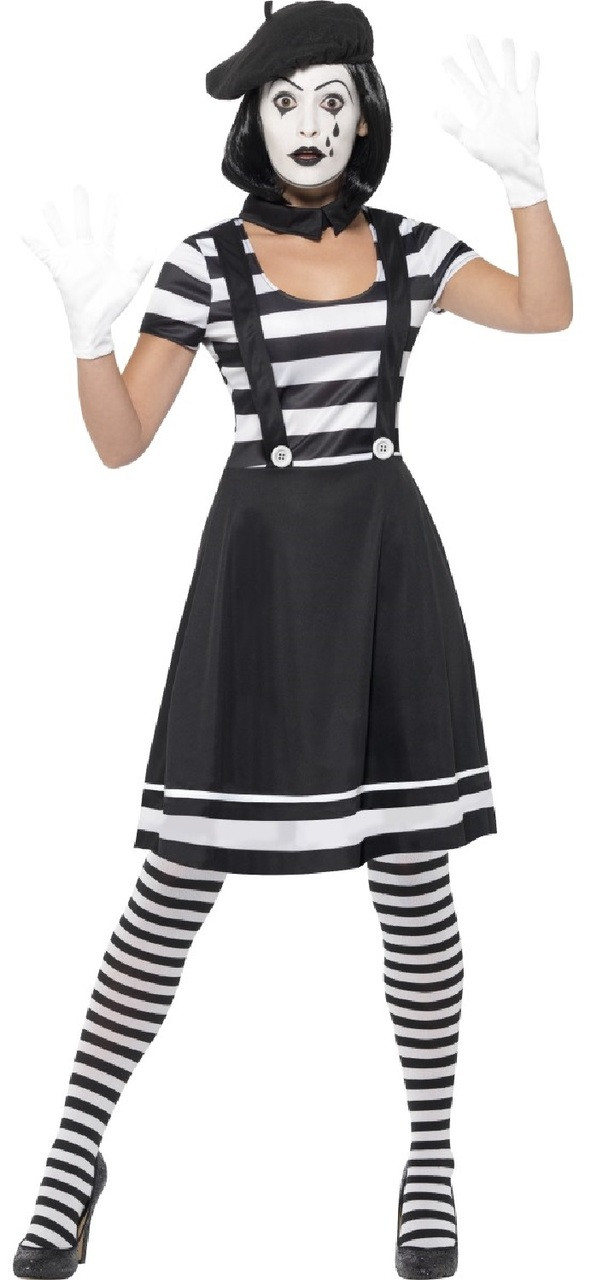 Image 1  sc 1 st  Fancy Me Limited & Ladies French Mime Artist Fancy Dress Costume - Fancy Me Limited
