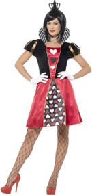 Ladies Carded Red Queen Fancy Dress Costume