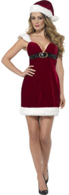 Ladies Sexy Miss Santa Fancy Dress Costume