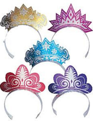 12 Pack of Girls Glitter Princess Party Tiaras