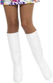 Ladies White GoGo Boot Fancy Dress Accessory