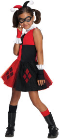 Girls DC Harley Quinn Fancy Dress Costume