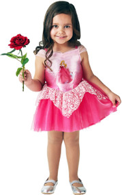 Girls Ballerina Aurora Fancy Dress Costume