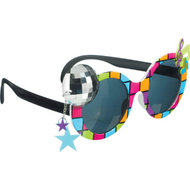 Adults 70's Disco Fancy Dress Glasses