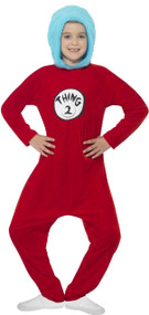 Child's  Dr Seuss Thing 1 Or 2 Fancy Dress Costume